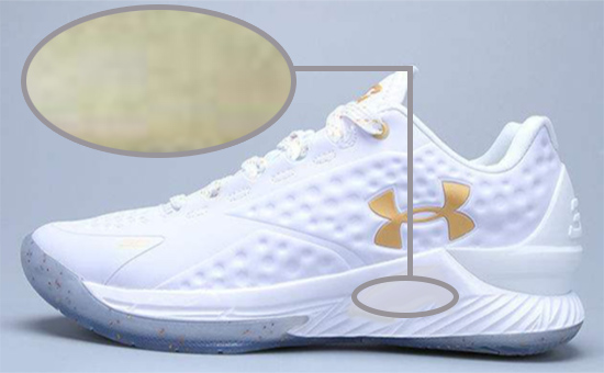 白色乳胶再生胶运动鞋底变色原因