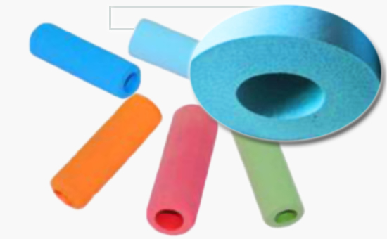 Nitrile reclaimed rubber production of colored foamed casing