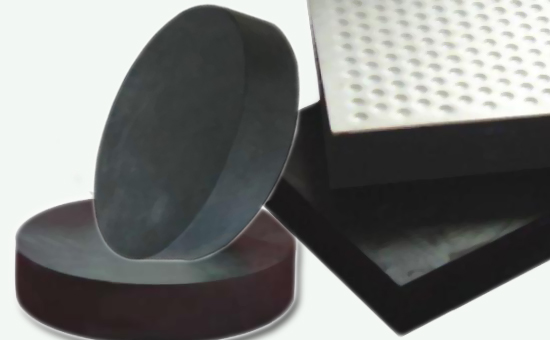 Local customers use black composite natural rubber to produce rubber bridge bearings