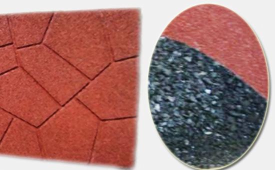 轮胎胶粉生产橡胶地砖的几种形式