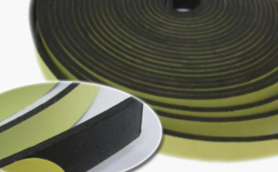 High-strength butyl reclaimed rubber production single-sided sealing tape
