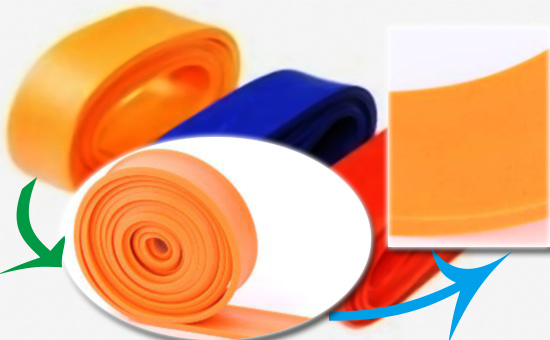 Pure latex reclaimed rubber production of color tension band