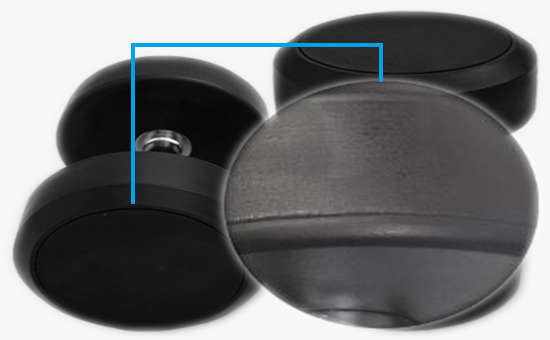 Latex reclaimed rubber production dumbbell