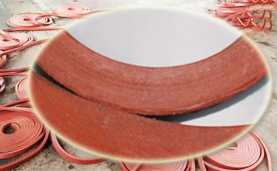 Red reclaimed rubber production red water seal
