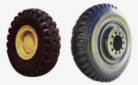 Three sponge tires mixed with butyl reclaimed rubber formula