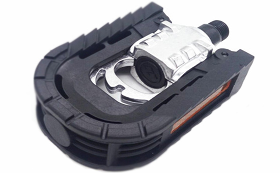 Tire tread reclaimed rubber production bicycle pedal set
