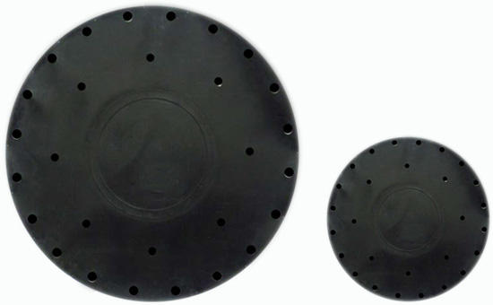Oil-resistant diaphragm using nitrile reclaimed rubber