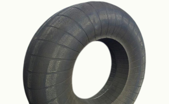 Butyl rubber tire is blended with butyl reclaimed rubber to extend service life