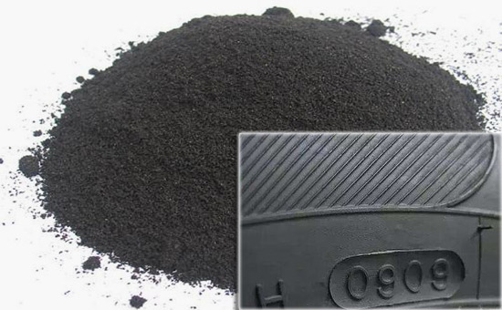 Tire sidewall rubber formula with activated rubber powder