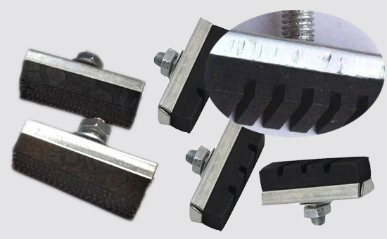 High proportion of rubber brake shoe with recycled rubber for formula