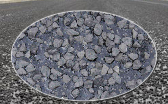 Application of vulcanized rubber powder in road paving