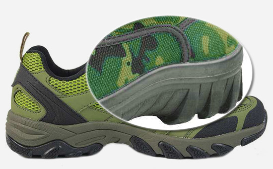 Can the military green rubber outsole use recycled rubber?