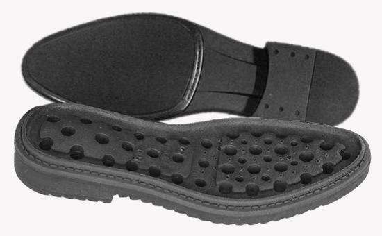 少量天然胶与再生胶并用生产防臭胶鞋硬中底配方