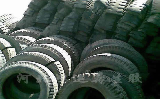 Cut waste tyre top