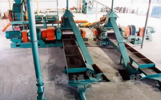 Ordinary tire rubber powder production line